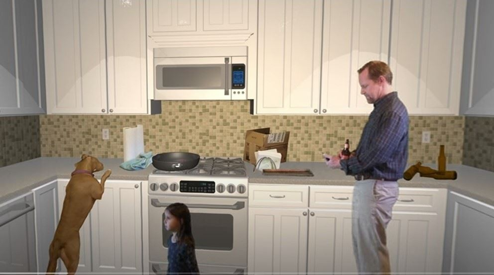 Kitchen safety image Opens in new window